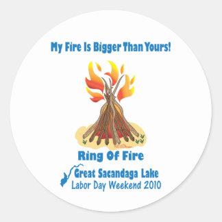 Ring Of Fire 2012 Round Sticker