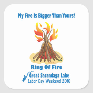Ring Of Fire 2012 Square Stickers