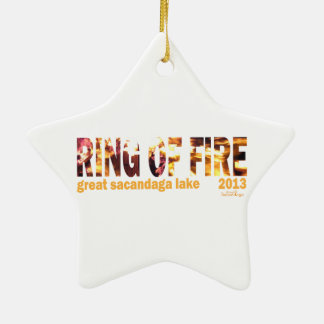 Ring Of Fire 2013 Double-Sided Star Ceramic Christmas Ornament