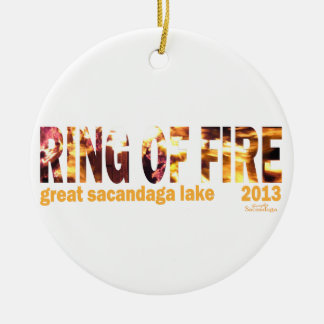 Ring Of Fire 2013 Round Ceramic Decoration