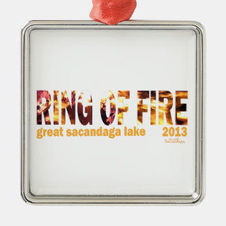 Ring Of Fire 2013 Silver-Colored Square Decoration