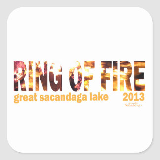 Ring Of Fire 2013 Square Stickers