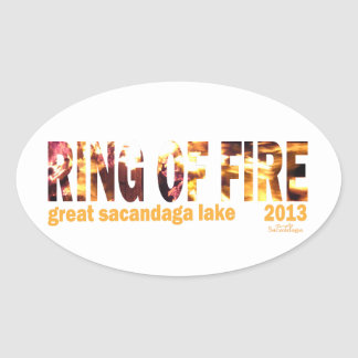 Ring Of Fire 2013 Oval Sticker