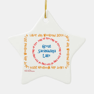 Ring Of Fire 2014 Ceramic Star Decoration