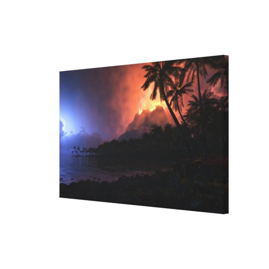 Ring of Fire (Night) Canvas Print