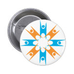 Ring of Happy Humanists 6 Cm Round Badge