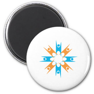 Ring of Happy Humanists 6 Cm Round Magnet