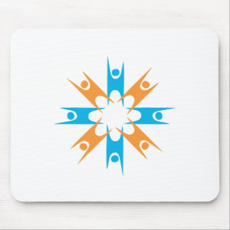 Ring of Happy Humanists Mouse Mat