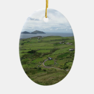 Ring Of Kerry Ireland Irish Ocean View Ceramic Oval Decoration