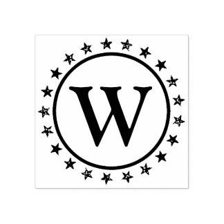 Ring of Stars Monogram Rubber Stamp
