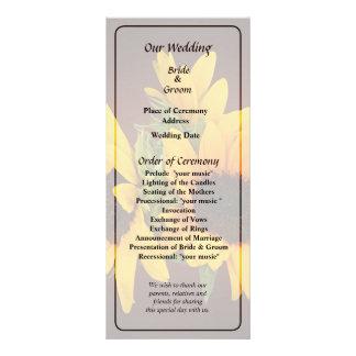 Ring of Sunflowers Wedding Program Rack Card