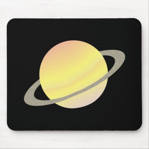 Ring planet planet with ring mouse pad