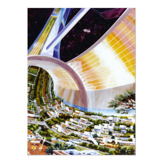 Ring Space Station - Future Off-World Habitat 14 Cm X 19 Cm Invitation Card