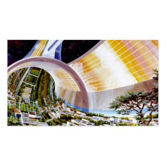 Ring Space Station - Future Off-World Habitat Pack Of Standard Business Cards