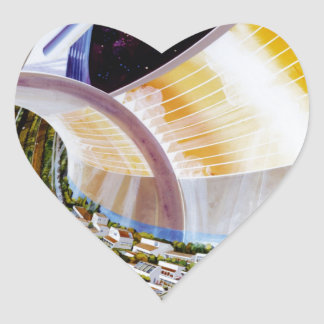 Ring Space Station - Future Off-World Habitat Sticker