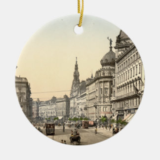 Ring Street, Budapest, Hungary Christmas Ornament