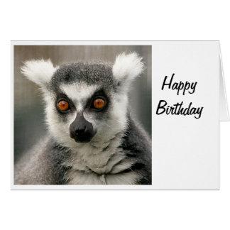 ring tail lemur greeting card