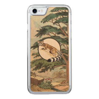 Ring-Tailed Cat In Natural Habitat Illustration Carved iPhone 8/7 Case