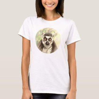 Ring-tailed lemur drawing t-shirt