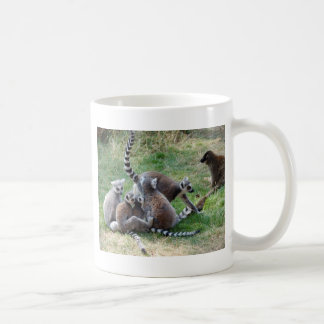 Ring tailed lemur family coffee mug