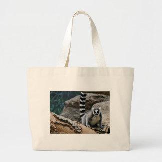 RIng Tailed Lemur Large Tote Bag