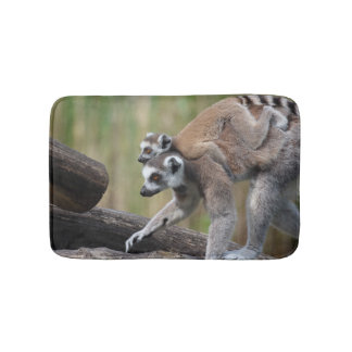 Ring-Tailed Lemur Mother And Baby Bath Mats