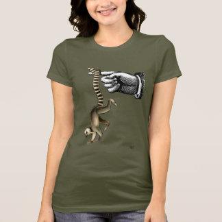 Ring Tailed Lemur on Finger 2 T-Shirt
