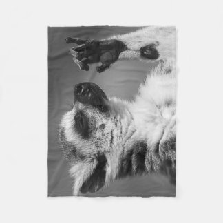 Ring Tailed Lemur Playing Fleece Blanket