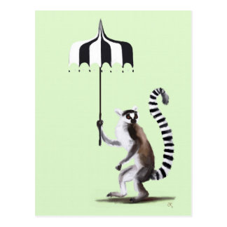 Ring Tailed Lemur Postcard