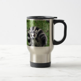 ring tailed lemur waiting for mom and lover coffee mug