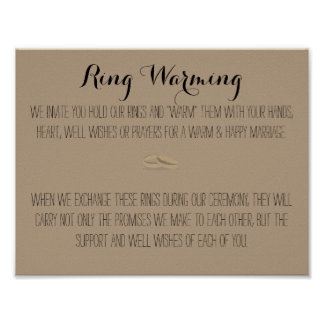 Ring Warming Sign Poster