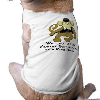 Ringbearer/ Monkey Sleeveless Dog Shirt