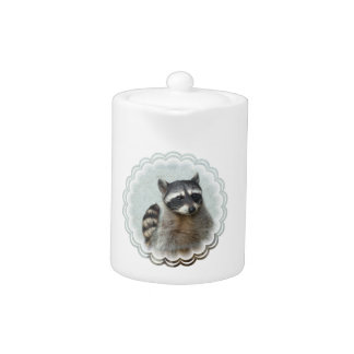 Ringed Raccoon Teapot