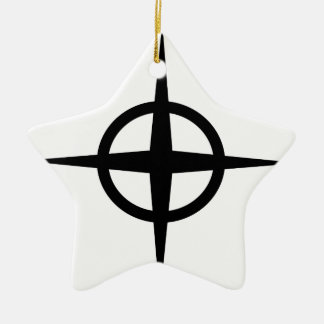 Ringed Star Ceramic Star Decoration