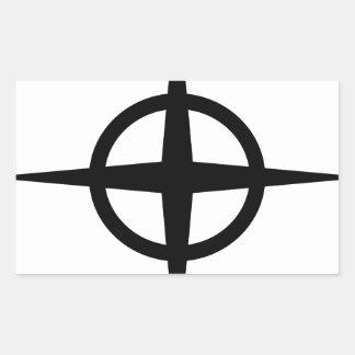 Ringed Star Rectangular Sticker