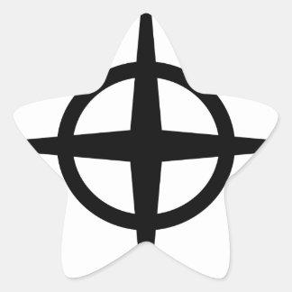 Ringed Star Star Sticker