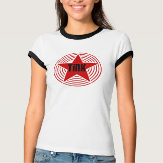 Ringer -  Black & Red Star Tink-Shirt T-Shirt