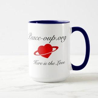 Ringer Coffee Mug - 15oz - (Navy Blue)