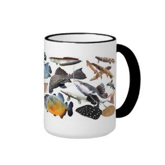 Ringer magnetic cup of large-sized tropical fish ringer mug