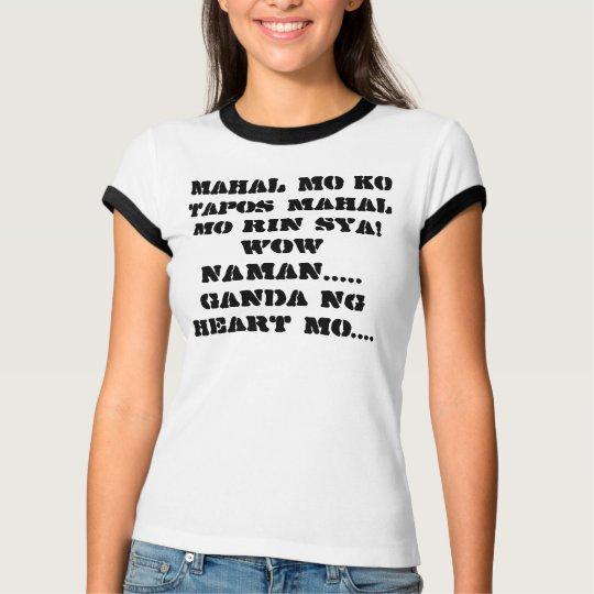Ringer T-Shirt with Tagalog Hugot Lines