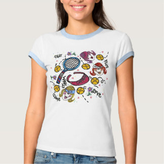 Ringer T -Tennis Girls Tee Shirt