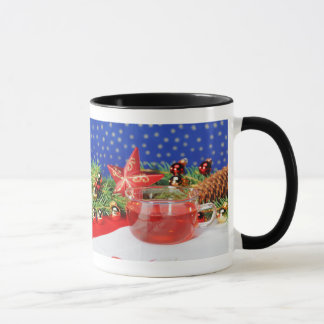 Ringertasse black Christmas Mug