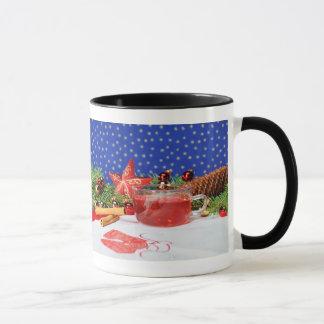 Ringertasse black with motive for Christmas Mug
