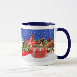 Ringertasse blue Christmas Mug