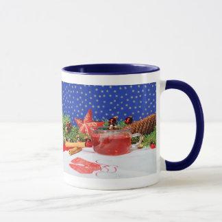 Ringertasse blue with motive for Christmas Mug