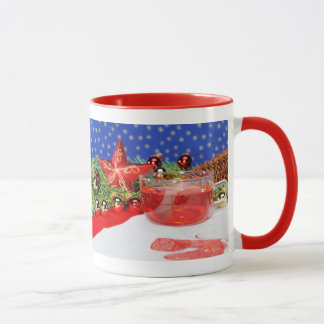 Ringertasse red with Christmas picture Mug