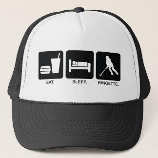 """Ringette """"Eat Sleep Ringette"""" Baseball Hat"""