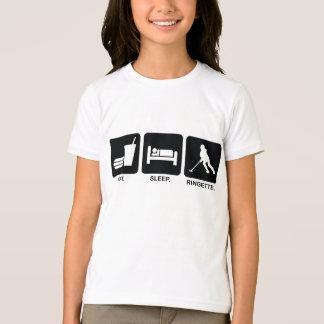 """Ringette """"Eat Sleep Ringette"""" Kids/Youth Ringer T-shirts"""