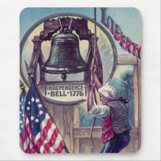 Ringing Independence Bell American Flag Mouse Pad
