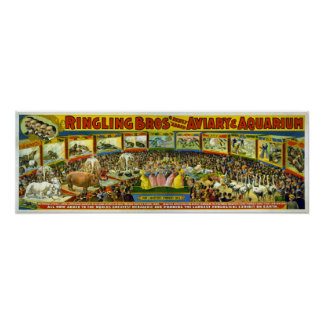 Ringling Bros Aviary Aquarium Posters